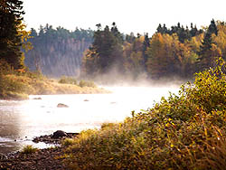 Early morning mist on the Cains river